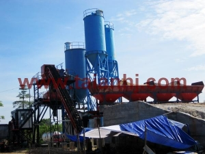 China Concrete Batch Plant HZS60 In Indonesia Product No.: 171 on sale