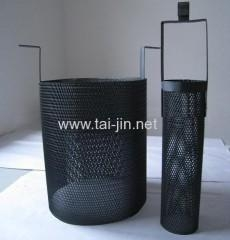 China Titanium MMO anode Round titanium mesh basket Anode coated with MMO coating on sale