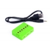 China Charger 6 in 1 X6 Battery Charger for Drone Battery Charger Green for sale