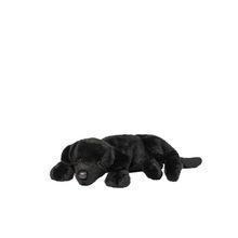 China plush black lying dog kids stuffed dog toy on sale