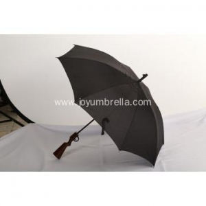China Straight Umbrella Gun shaped black special straight umbrella on sale