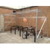China Outdoor galvanized 5 position bike storage shed(ISO Approved) for sale