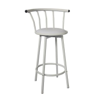 "29"" Height Vinyl Padded Metal Swivel Bar Stool"