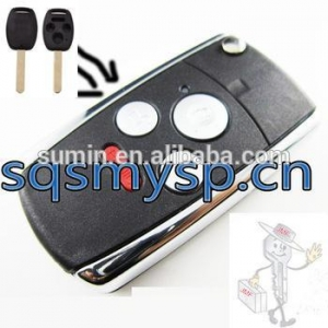 China BT-06 For car key Blank replacement Hon 4 Buttons Auto Blank key Cover case on sale