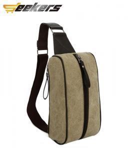 China Unique canvas bag men canvas sport waist bag on sale
