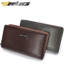 China mens leather money clip wallet on sale