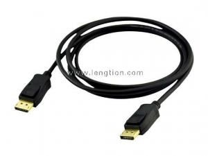 China DisplayPort Male to DisplayPort Male Cable Gold Plated High Quality with Latches on sale