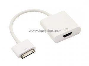 China Dock 30 Pin Connector to HDMI HDTV TV Adapter Cable for iPad iPad2 iPad3 iPhone 4/4s iPod iTouch 4 on sale