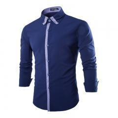 China 2015 New Fashion Mens Plaids Shirt Casual Dress Shirts on sale