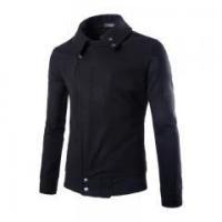mens new winter fashion turndown jacket wool coat hooded outerwear overcoat