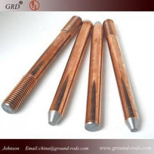 China copper bonded earth rod/earthing rod on sale