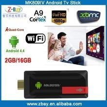 China 2015 hot selling RK3188T Quad Core MK809IV android Tv Stick on sale