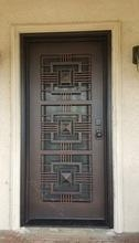 China iron doors manufacturer factory wrought iron entry door on sale
