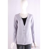 China C-021 Womens V neck long sleeves cardigan, Spring/Summer, tape yarn, cotton/polyester sweater for sale