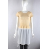 China knitwear P6033001 Womens dress with knitted top and crinkle wearing chiffon skirt for sale