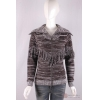 China knitwear C-023 turtle neck womens cardigan, Autumn/Winter, cotton/acrylic sweater, zipper, fringes, for sale