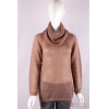 China knitwear P-053 Turtle Neck Womens Structure Knit Pullover, Autumn mohair sweater for sale