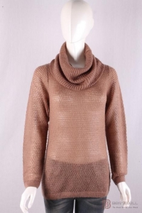 China knitwear P-053 Turtle Neck Womens Structure Knit Pullover, Autumn mohair sweater on sale