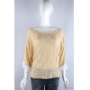China knitwear P6031006 Womens jacquard pullover with contrast chiffon puff sleeves for sale