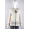 China knitwear P6031004 Womens lace knitted pullover with hood for sale
