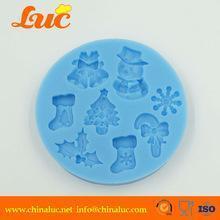 China Sugarcraft silicone molds for cake decorating christmas fondant silicone baking molds on sale