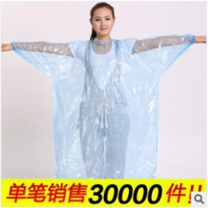 China Promotional fashionable disposable pe rain poncho for adult Asian Hot on sale