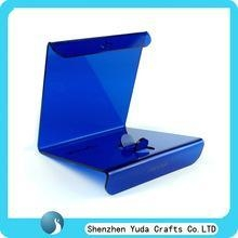 China blue acrylic laptop display holder, wholesale engraved laptop display holder on sale