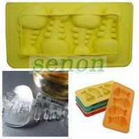 China Silicone Cake Mold&Ice Cube Tray :Silicone Fish bone design Ice Cube Tray on sale