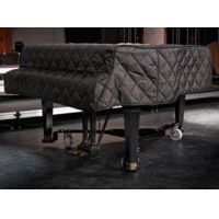 Black Quilted Grand Piano Cover