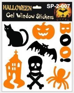 China Crystal Sticker Halloween Gel Window Sticker on sale