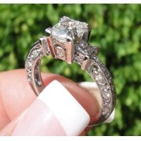 China Engagement Rings 1.00 I Vs2 Cushion GIA certified Diamond Ring____SOLD on sale