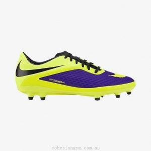 China Men's Shoes 599730-570 Nike HYPERVENOM Phelon FG Electro Purple/Black/Volt on sale
