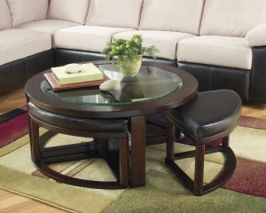China Contemporary Dark Bown Marion Cocktail Table on sale