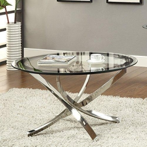 China Coaster Home Furnishings 702588 Contemporary Coffee Table, Chrome on sale