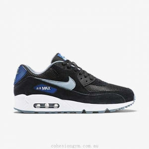 China Men's Shoes 537384-041 Nike Air Max 90 Essential Black/Gym Blue/Blue Graphite/Dove Grey on sale