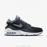 China Men's Shoes 306551-012 Nike Air Max 93 Black/Anthracite/Pure Platinum/Cool Grey on sale