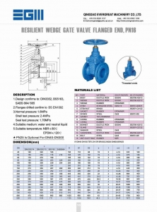 China RESILIENT WEDGE GATE VALVE, FLANGED END GATE VALVE on sale