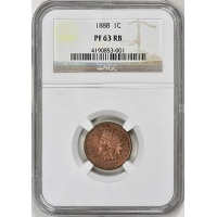 1888 Indian Cent NGC Proof-63 RB