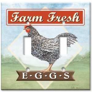 China Animal Theme Wall Plates Farm Fresh Eggs on sale