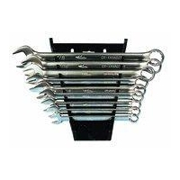 Detectors High Polished Fractional 9 Piece Wrench Set (With Plastic Tray)