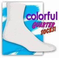China Colorful Quarter Cushion Socks (White) on sale