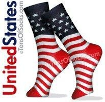 China Women's American Flag Socks on sale