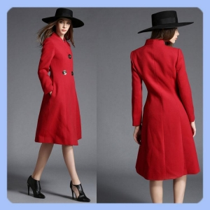 China scarlet women fashion long coats on sale