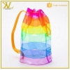 China Fashional Waterproof Coloful Transparent PVC Beach Bag For Summer for sale