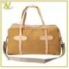China Fashion Mens Canvas Trave Bag Mixed leather Duffle Bag for sale