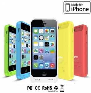China BC-I5C-01 2400mAh Backup battery case for iphone 5 C charger case on sale