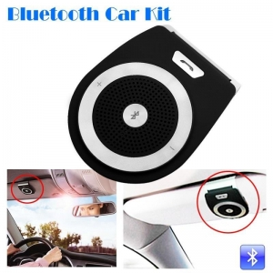 China New Stereo Bass Wireless Bluetooth Car Kit Speaker Handsfree For Iphone Samsung,black CABH0050 on sale