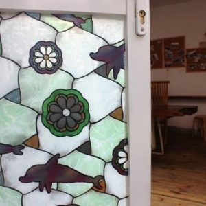 China Stained Glass Window Film G003 on sale
