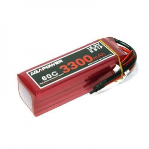 China RC Heli Lipo Battery 3300 60C 18.5V high rate RC battery on sale