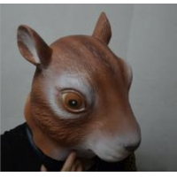 Halloween decoration Resin Face Mask Squirrel Mask Adult Party Masquerade Latex Mask